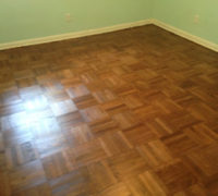 Parquet wood floor - professionally refinished