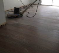 Sanding old White Oak wood flooring