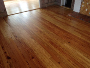 Refinishing Heart Pine Wood Flooring In Jacksonville Beach Fl