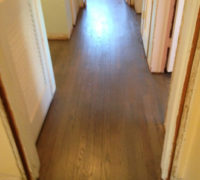 "Stained and refinished old solid Red Oak wood flooring for a ""Beachy Look"""