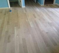 Unfinished White Oak wood flooring installed