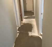 Leveling subfloor for wood look tile installation