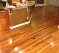 Old Red and White Oak wood floor with Tung oil finish