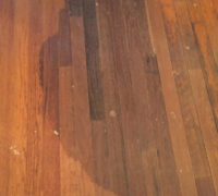 Old, solid Red Oak wood flooring