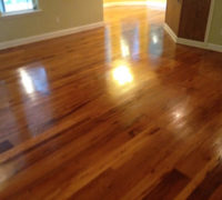 Red and White Oak wood floors, screened and refinished with Tung oil