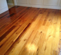 Refinishing old Red and White Oak wood floor with Tung oil