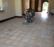 Floor tile removal machine- ready to start removing tile.