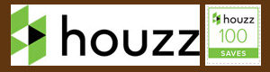 HOUZZ logo with 100 Saves button