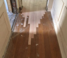 Red Oak hardwood flooring weave-in