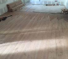 Red Oak hardwood flooring weave-in