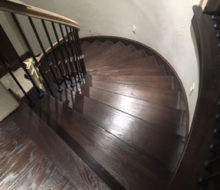 Refinished landing and stairs