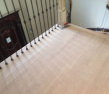 Sanded and hand scraped landing