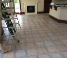Some of the floor tile to be removed