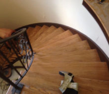 Wood stair treads to be refinished
