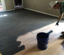 Applying stain to new Red Oak flooring