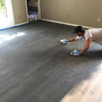 Rotary Sawn Red Oak Wood Floor Sand And Stain Ponte Vedra Beach