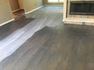 Rotary Sawn Red Oak Wood Floor Sand And Stain Ponte Vedra