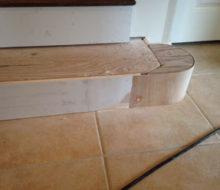 Creating curved riser for custom bottom stair step