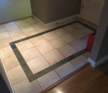 Existing tile floor in foyer to be removed