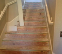 Fitting stairway risers