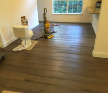Installing French Oak wood flooring