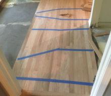Installing rotary sawn Red Oak wood flooring