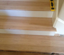 New Birch Stair Treads Fit Tight With Skirt