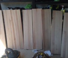 New Birch stair treads, ready for staining and refinishing