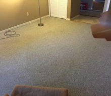 Old carpet in home office