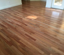 Pacific Madrone wood flooring installed