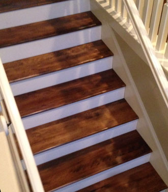 Solid Birch Stair Treads For World Golf Village Home