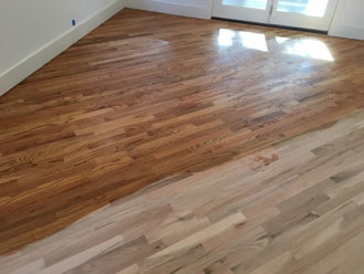 Lying Golden Oak Stain To Red Wood Flooring