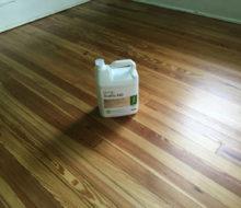 Bona Traffic HD finish jug on refinished old heart pine wood flooring