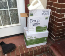 Bona Traffic HD satin finish coating for Avondale home wood floor and stair tread refinishing