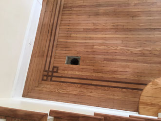 Refinishing Old Wooden Floors And Stairs In Historic