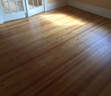 Old heart pine wood flooring after refinishing