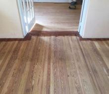 Old heart pine wood flooring after sanding