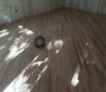 Sanded installed and existing red oak wood flooring