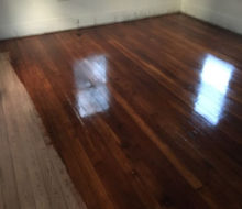 Applying finish to sanded old heart pine wood floors