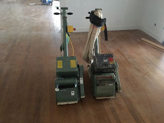 Red Oak Wood Floor and Stair Restoration - Avondale