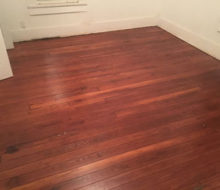 Old heart pine wood flooring refinished
