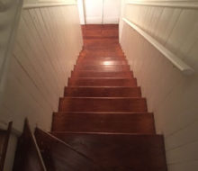 Old wooden stair treads refinished