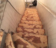 Restoring old wooden stair treads