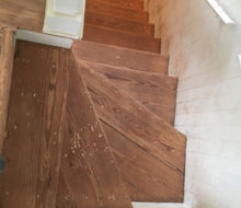 Old wooden stair treads