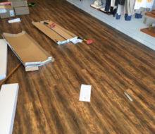 Installing wood look vinyl plank flooring