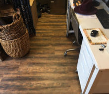Wood look vinyl plank flooring installed