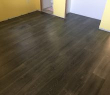 Beachy look White Oak flooring installed