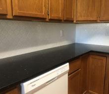 Installed kitchen backsplash tile