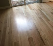 Installed rift and quarter sawn red oak wood flooring