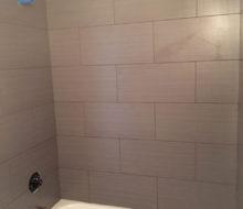 Installed tile tub & shower walls
